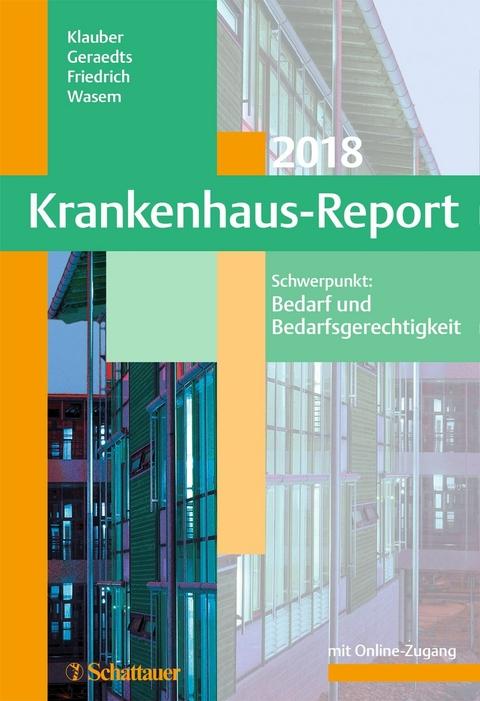 eBook: Krankenhaus-Report 2018 von Jürgen Klauber | ISBN 978-3-7945 ...