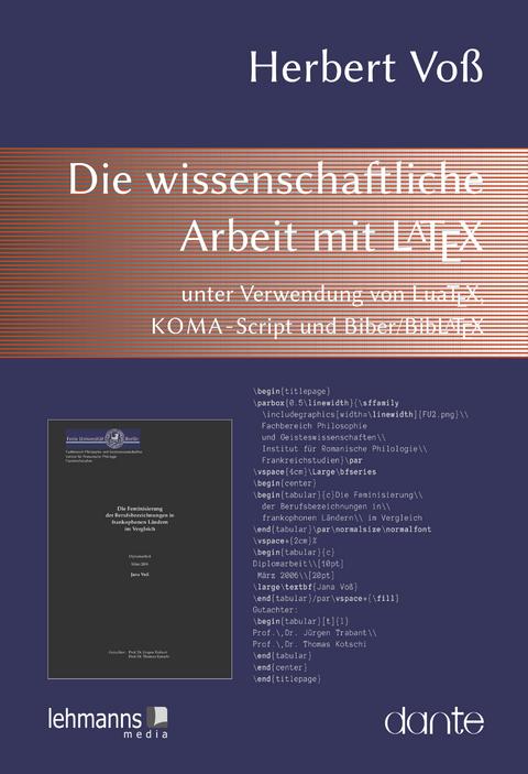 Ebook Die Wissenschaftliche Arbeit Mit Latex Von Herbert Voss Isbn
