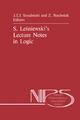 S. Lesniewski's Lecture Notes in Logic - Jan J.T. Srzednicki; Z. Stachniak