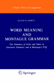 Word Meaning and Montague Grammar - D. R. Dowty