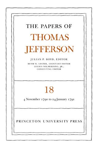 The Papers of Thomas Jefferson, Volume 18 - Thomas Jefferson; Julian P. Boyd