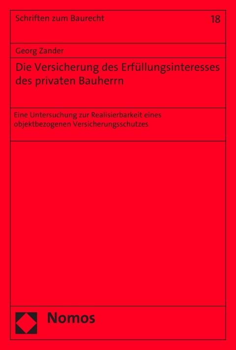 Ebook Die Versicherung Des Erfüllungsinteresses Des Privaten Von
