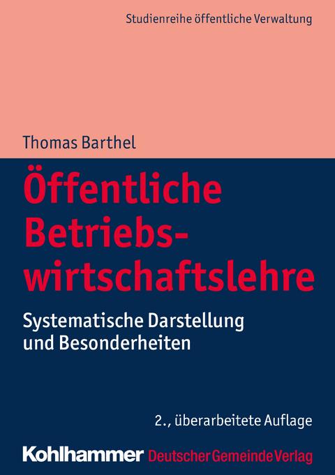Ebook öffentliche Betriebswirtschaftslehre Von Thomas Barthel