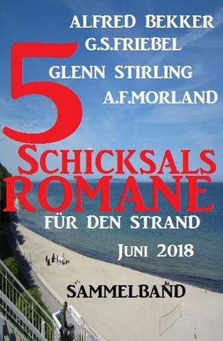 Sammelband 5 Schicksalsromane für den Strand Juni 2018 - Alfred Bekker; G. S. Friebel; A. F. Morland; Glenn Stirling
