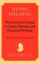 Henry Fielding - The Journal of a Voyage to Lisbon, Shamela, and Occasional Writings - Martin C. Battestin