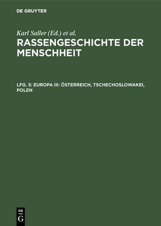Europa III: Osterreich, Tschechoslowakei, Polen - J. Jelinek; J. Suchy; Margarete Weninger