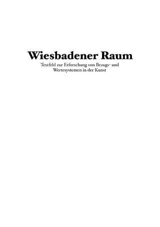 Wiesbadener Raum - Sascha Büttner