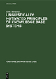 Linguistically motivated principles of knowledge base systems
