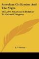American Civilization And The Negro - C. V. Roman