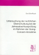 Untersuchung der rechtlichen Überschuldung bei der Jahresabschlussprüfung im Rahmen der Going-Concern-Annahme - Eva Scheffczyk