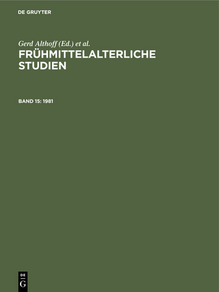 1981 - Gerd Althoff; Hagen Keller; Christel Meier