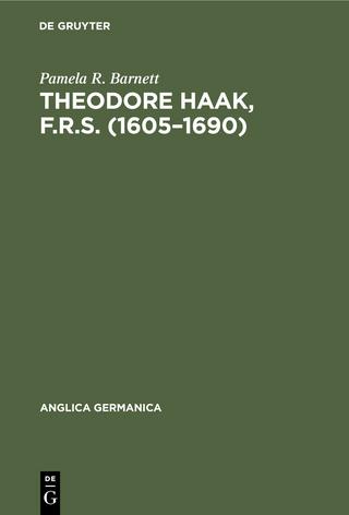 Theodore Haak, F.R.S. (1605?1690) - Pamela R. Barnett