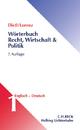 Wörterbuch Recht, Wirtschaft & Politik  Band 1: Englisch-Deutsch