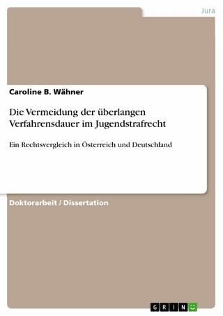 Die Vermeidung der überlangen Verfahrensdauer im Jugendstrafrecht - Caroline B. Wähner