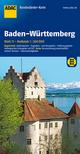 ADAC BundesländerKarte Deutschland Blatt 11 Baden-Württemberg 1:300 000