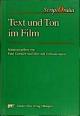 Text und Ton im Film - Paul Goetsch; Dietrich Scheunemann