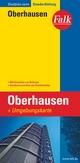 Falk Stadtplan Extra Standardfaltung Oberhausen mit Ortsteilen von Bottrop