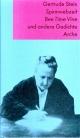 Spinnwebzeit. Bee Time Vine und andere Gedichte - Gertrude Stein; Marcel Beyer; Barbara Heine; Andreas Kramer