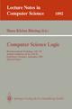 Computer Science Logic - Hans Kleine Buening
