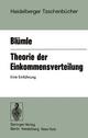 Theorie der Einkommensverteilung - G. Blümle