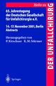 65. Jahrestagung der Deutschen Gesellschaft für Unfallchirurgie e.V.
