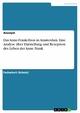 Das Anne-Frank-Haus in Amsterdam. Eine Analyse über Darstellung und Rezeption des Leben der Anne Frank - Anonym