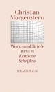 Werke und Briefe. Stuttgarter Ausgabe. Kommentierte Ausgabe / Kritische Schriften - Helmut Gumtau; Christian Morgenstern; Reinhardt Habel