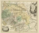 Historische Karte: FÜRSTENTUM HALBERSTADT mit der Abtei Quedlinburg und der Grafschaft Werningerode und der Harz 1760 (Plano) - Peter (der Jüngere) Schenk