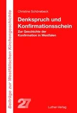 Denkspruch Und Konfirmationsschein   Christine Schönebeck