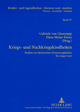Kriegs- und Nachkriegskindheiten - Gabriele von Glasenapp; Hans-Heino Ewers-Uhlmann