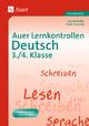 Auer Lernkontrollen Deutsch, Klasse 3/4 - Jasmin Boller; Heike Jauernig