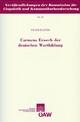 Carmens Erwerb der deutschen Wortbildung - Franz Rainer