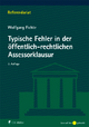 Typische Fehler in der öffentlich-rechtlichen Assessorklausur - Wolfgang Fichte