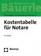 Kostentabelle für Notare - Bayerischer Bayerischer Notarverein e.V.