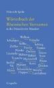 Wörterbuch der Rheinischen Vornamen in der Düsseldorfer Mundart - Heinrich Spohr