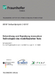 Entwicklung und Erprobung innovativer Technologien des modellbasierten Tests. - Ina Schieferdecker