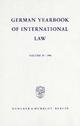 German Yearbook of International Law - Jahrbuch für Internationales Recht. - Jost Delbrück; Rainer Hofmann; Andreas Zimmermann