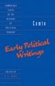 Comte: Early Political Writings - Auguste Comte; H. S. Jones
