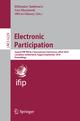 Electronic Participation - Efthimios Tambouris; Ann Macintosh; Olivier Glassey