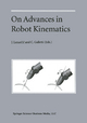 On Advances in Robot Kinematics - Jadran Lenarcic; C. Galletti