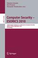 Computer Security - ESORICS 2010 - Dimitris Gritzalis; Bart Preneel; Marianthi Theoharidou