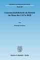 Gemeinschaftsbetrieb als Betrieb im Sinne des § 613a BGB. - Dominik Jochums