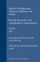 Reports of Judgments, Advisory Opinions and Orders / Recueil des arrets, avis consultatifs et ordonnances, Volume 1 (1997) - International Tribunal for the Law of the Sea
