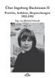 Über Ingeborg Bachmann - Michael M. Schardt