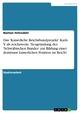 Das 'Kaiserliche Reichsbundprojekt' Karls V. als reichsweite Neugründung des 'Schwäbischen Bundes' zur Bildung einer dominant kaiserlichen Position im Reich? - Bastian Hefendehl