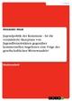 Jugendpolitik der Kommune - Ist die verminderte Akzeptanz von Jugendfreizeitstätten gegenüber kommerziellen Angeboten eine Folge des gesellschaftlichen Wertewandels? - Alexander Stock