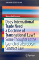 Does International Trade Need a Doctrine of Transnational Law?