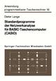 Standardprogramme der Netzwerkanalyse für BASIC-Taschencomputer (CASIO) - Dieter Lange