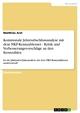 Kommunale Jahresabschlussanalyse mit dem NKF-Kennzahlenset - Kritik und Verbesserungsvorschläge an den Kennzahlen - Matthias Arzt