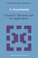 Gleason's Theorem and Its Applications - Anatolij Dvurecenskij